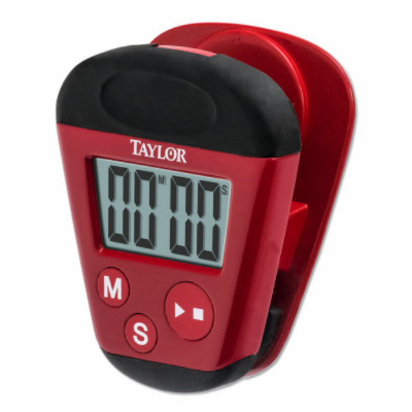 Taylor 5875 Kitchen Clip Timer with Extra Strong Magnet, Red