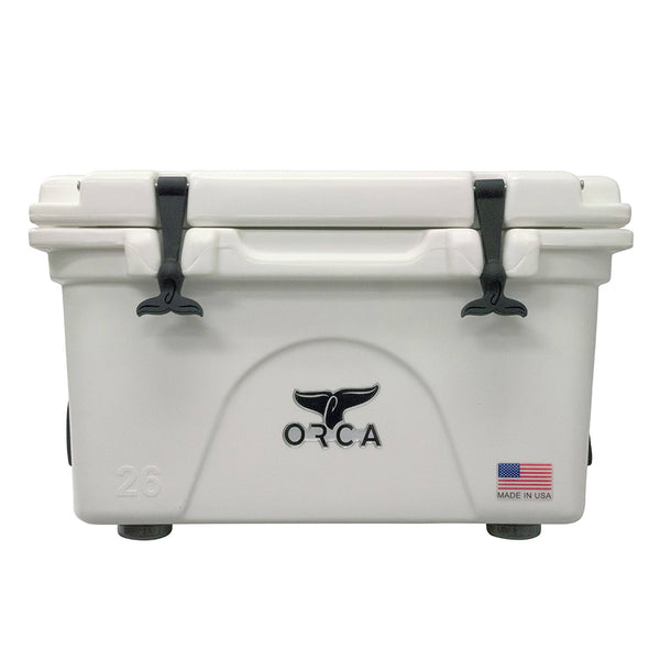 ORCA® ORCW026 Durable Roto-Molded White Cooler, 26 Qt