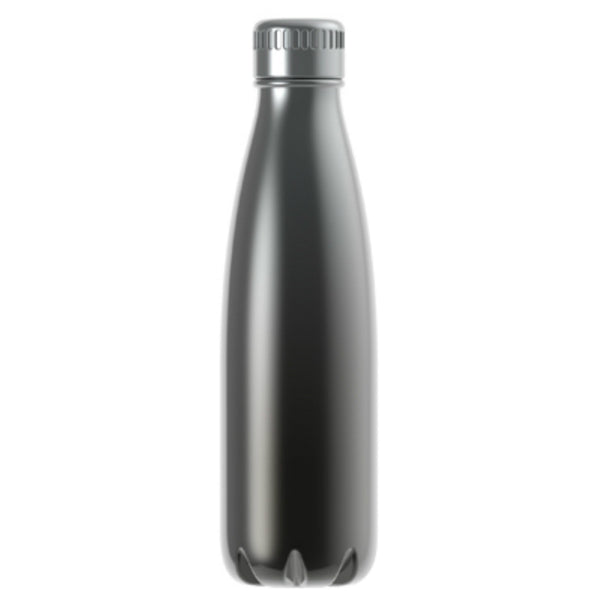 Manna™ 15949 Vogue® Ombre Metallic Beverage Vacuum Bottle, Onyx, 17 Oz
