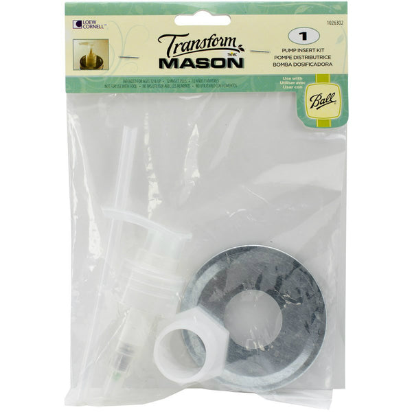 Ball® 1026302 Transform Mason® Jar Soap Pump Dispenser Kit