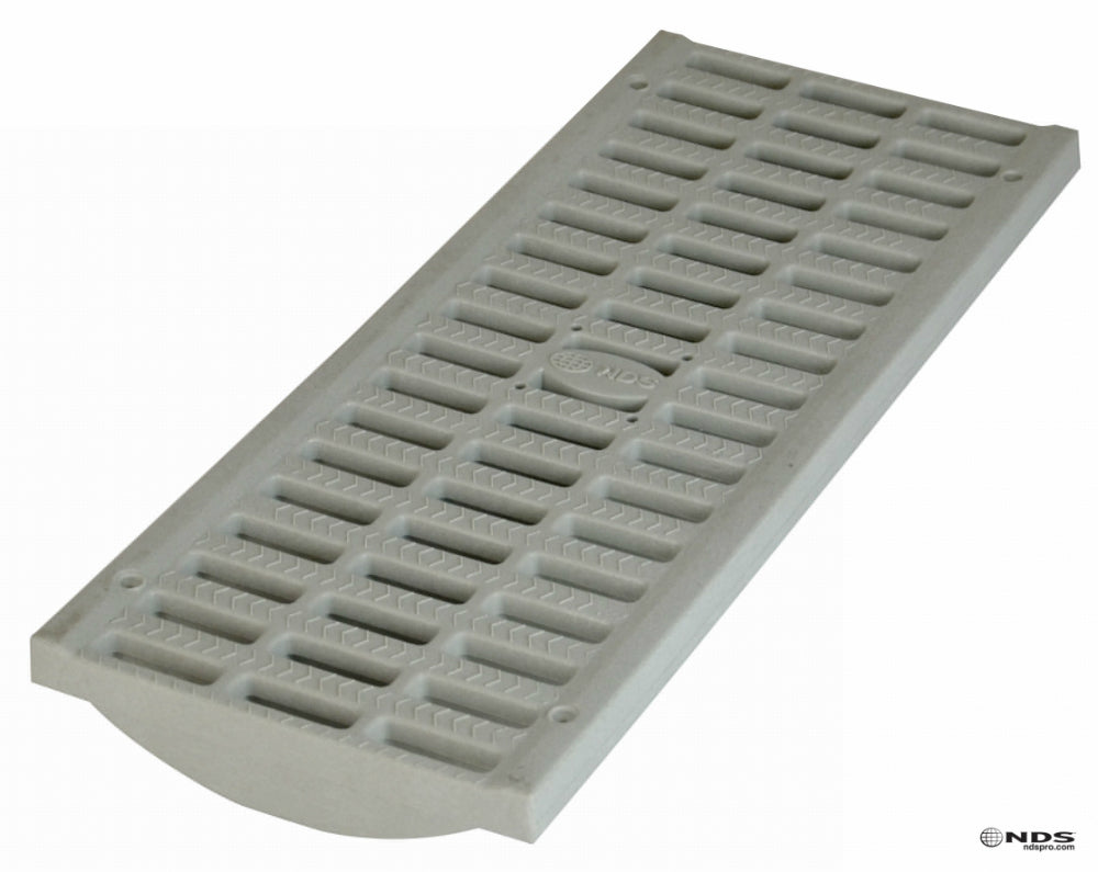 "NDS® 837 Pro Series Light Traffic Channel Grate, Light Gray, 8"" x 20"""