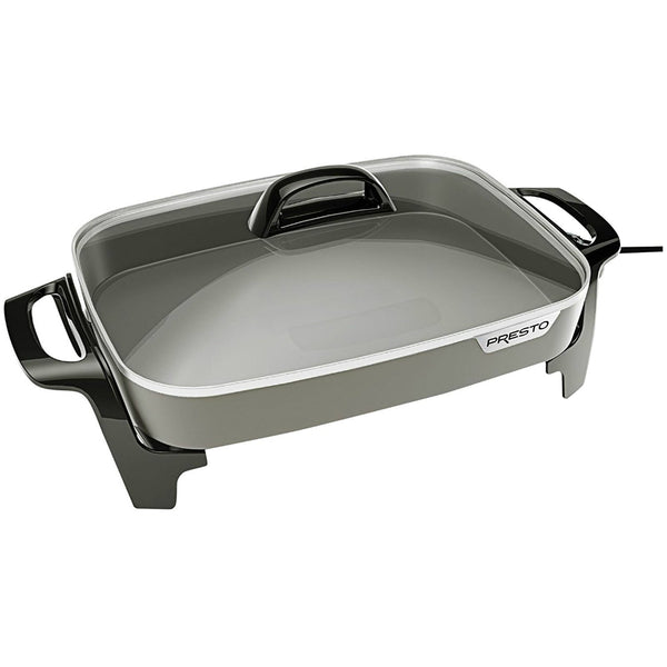 Presto® 06856 Ceramic Non-Stick Electric Skillet, 1500 Watts, 16""