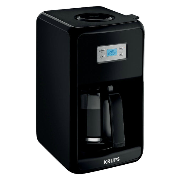 Krups® EC311050 Savoy Coffee Maker w/ 12-Cup Glass Carafe, Black