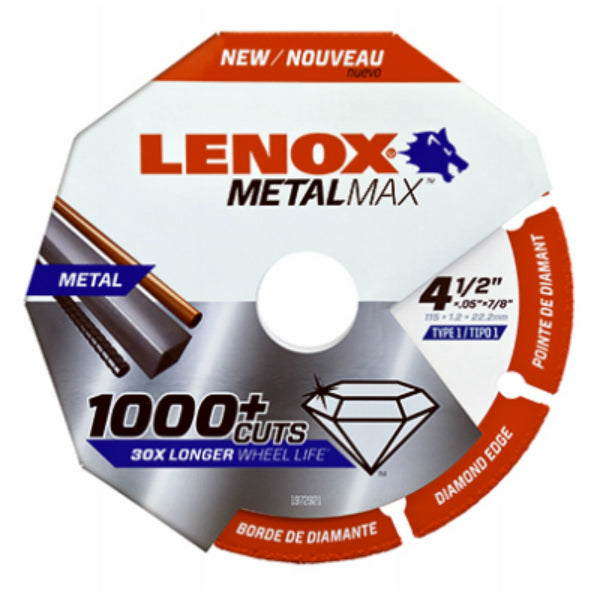 "Lenox® 1972921 Metalmax™ Diamond Edge Cut-Off Wheel, 4.5"" x 7/8"""