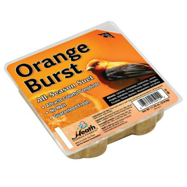 Heath® DD-14 No Melt All-Season Orange Burst Suet Cake, 11.25 Oz