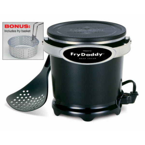 Presto® 05425 FryDaddy® Plus Electric Deep Fryer with Frying Basket