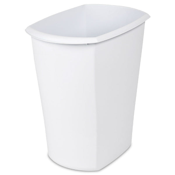 Sterilite® 10528006 Rectangular Wastebasket Can, White, 5.5 Gallon