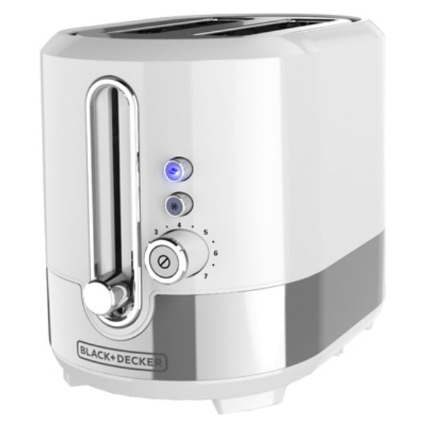 Black & Decker TR2200SWD Extra-Wide Slot 2-Slice Toaster, White