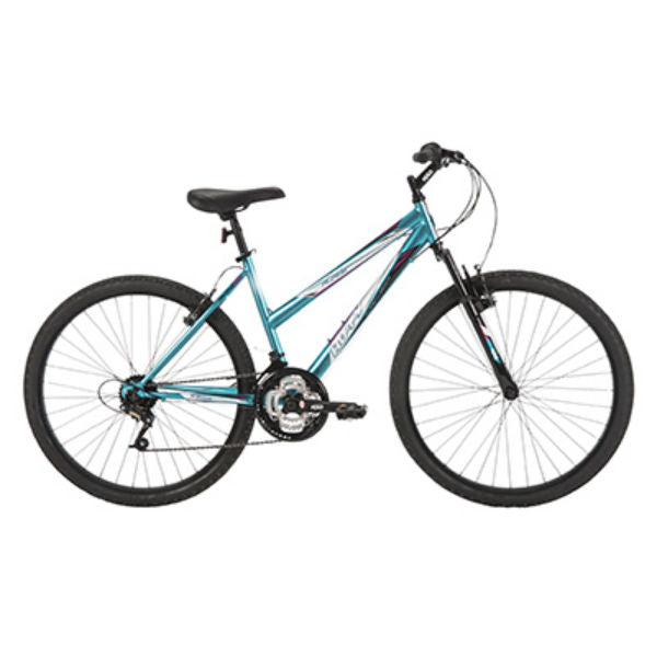 Huffy 26337 Alpine Womens Mountain Bike w/18-Speed Gears, Metallic Pool Blue,26""