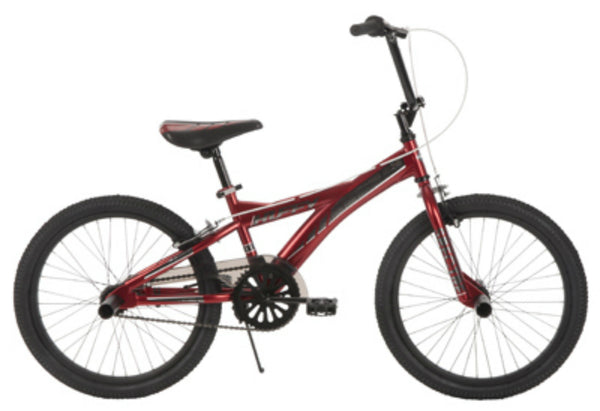 "Huffy® 23247 Boys Steel Straight ""Y"" Spectre Bike, Matte Chrome Red, 20"""