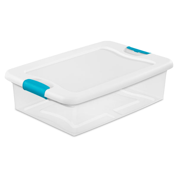 Sterilite® 14968006 Latching Box with Lid & Latches, 32 Qt