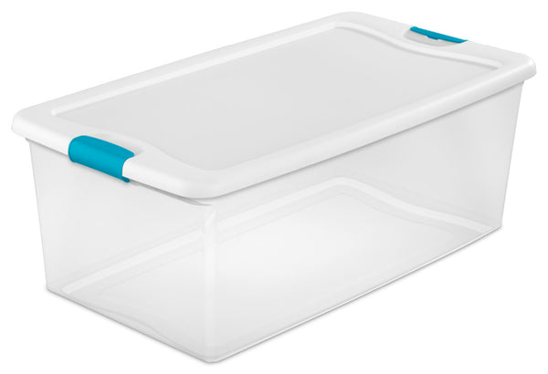 Sterilite® 14998004 Latching Box with Lid & Latches, 106 Qt