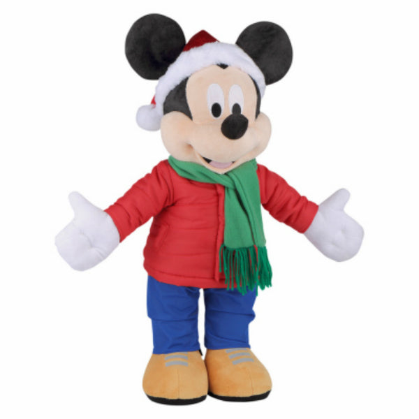 Gemmy® 83992 Indoor Mickey Holiday Greeter with Puffer Jacket, 20""