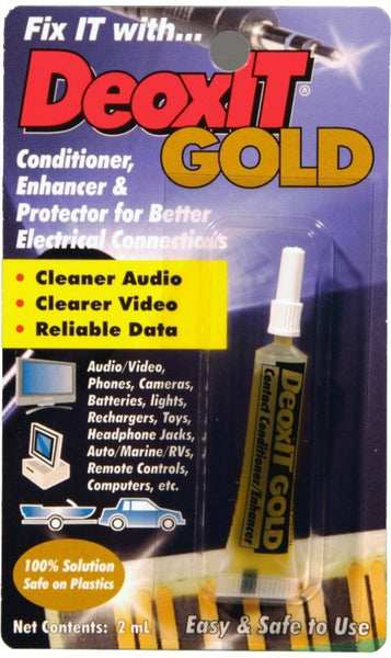 DeoxIT® G100L-2C Gold G100L Contact Conditioner Squeeze Tube, 100% Solution, 2ml