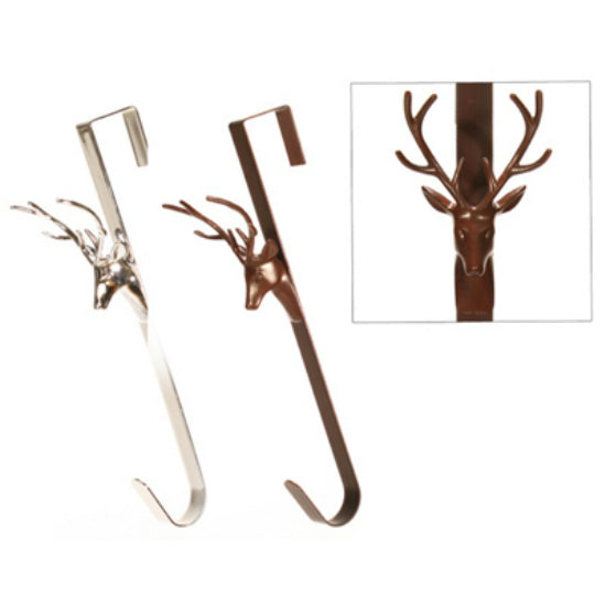 Danson Decor X93584 Deer Head Stocking Hanger, Assorted, 15""