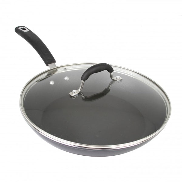 Oneida® 35383 Forged Aluminum Non-Stick Induction Covered Fry Pan, Black, 12""