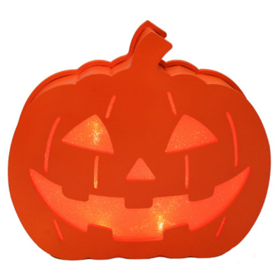 Nature's Mark GM-HZ05/07 Halloween LED Plastic Pumpkin Lantern, 9""
