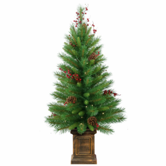 National Tree WB8-306-40 Woodland Berry Artificial Entrance Tree, 4'