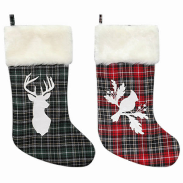 Dyno Seasonal 1208141CC Plaid Christmas Stocking, Assorted Styles, 20""