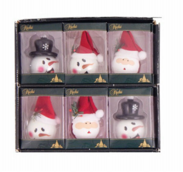 Christmas By Krebs TV300052A Porcelain Figural Ornament w/3 Styles, White, 2.25""