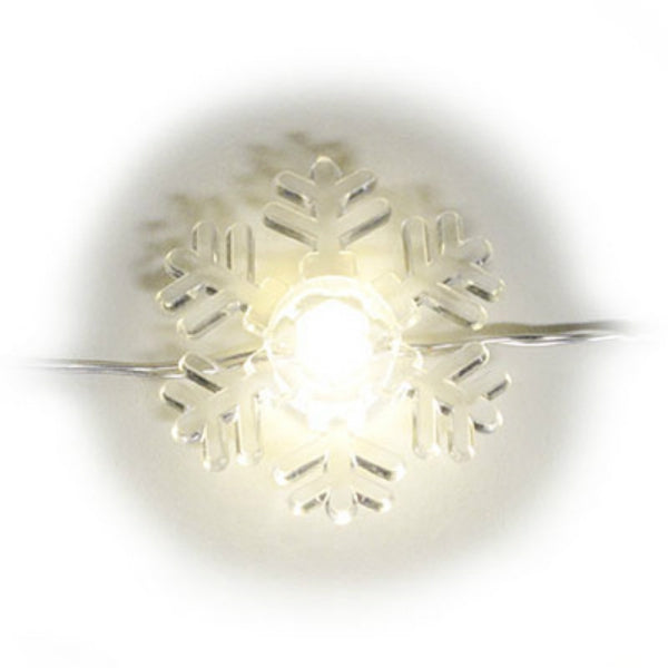 Sylvania V41137-88 Battery-Operated Warm White LED Snowflake 20-Light Set