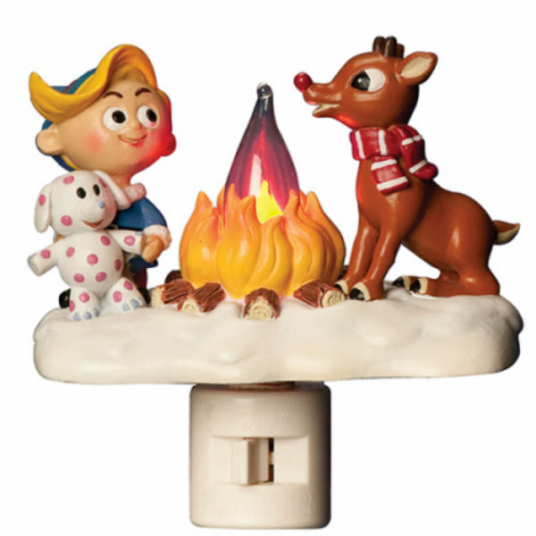 Roman™ 165108 Rudolph Flicker Night Light with Swivel Base, 4.5""