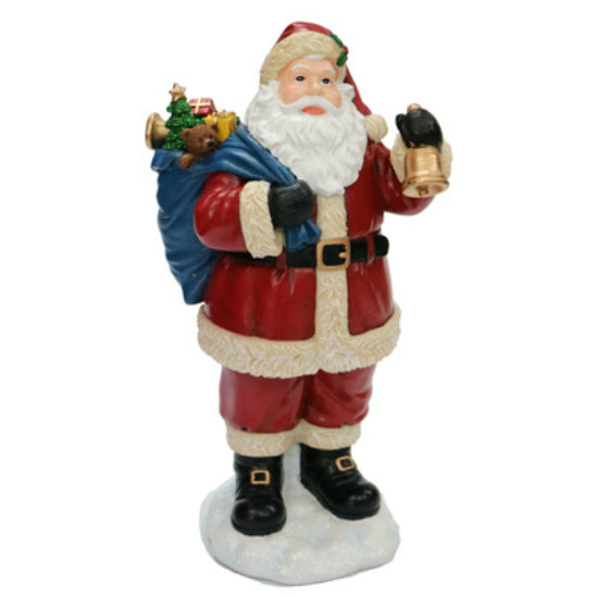 "Nature's Mark NM-X15232AA Jolly Santa Table Top Character, 10.5"" Height"
