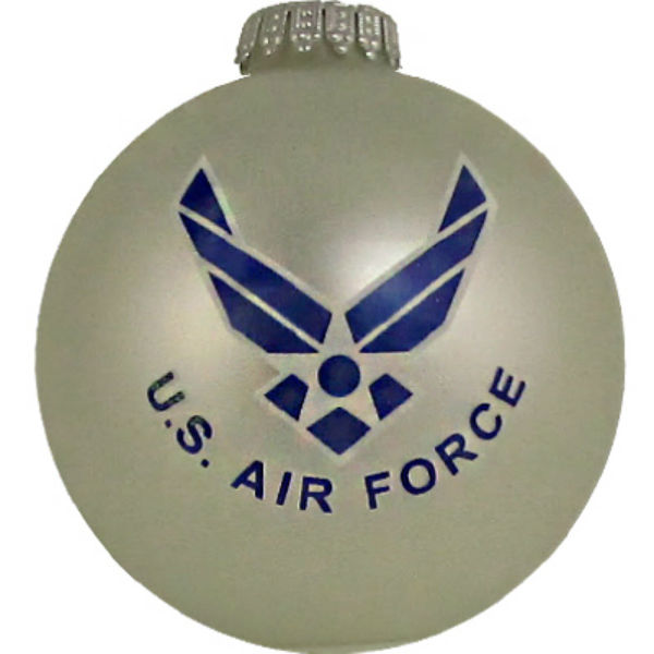 Christmas By Krebs® TV63254 U.S. Air Force Glass Ornament, 3-1/4""