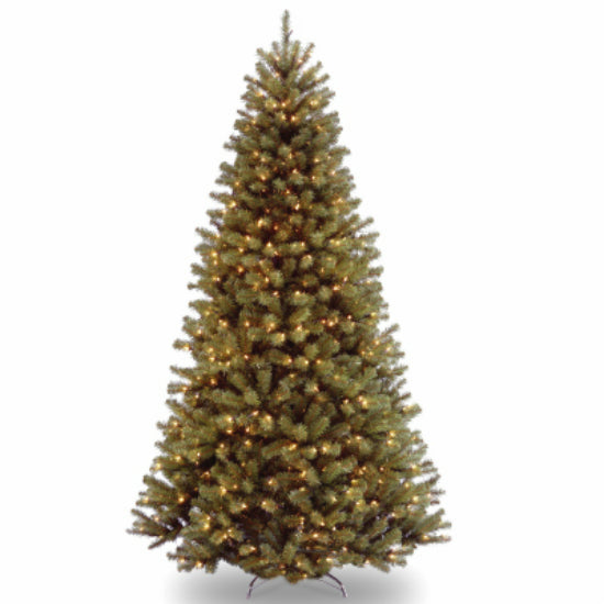 National Tree NRV7-300P-75 North Valley Spruce Artificial Hinged Tree, 7.5'