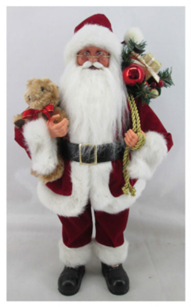 The Christmas House 920077 Standing 3D Santa Figure, 18""