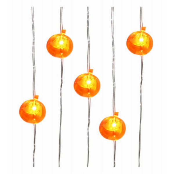 Sylvania V35300-88 Battery-Operated Warm White LED Pumpkin Set, 20-Light
