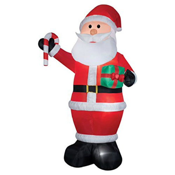 Gemmy® 36715 Airblown® Giant Santa with Gift & Candy Cane, 12'