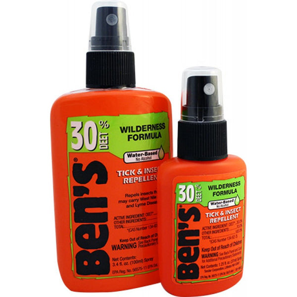 Ben's® 0006-7185 Tick & Insect Repellent Home & Field Pack w/3.4 & 1.5 Oz Bottle