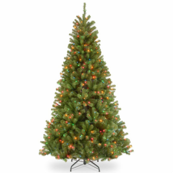 National Tree NRV7-301P-75 North Valley Spruce Artificial Hinged Tree, 7.5'