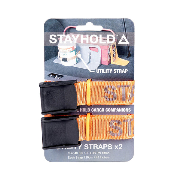 Velcro® 99005 StayHold™ Utility Straps, Orange, 2-Count