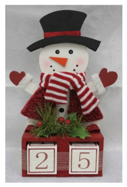 The Christmas House 920082 Wood Snowman Figure, 15""