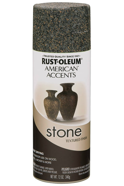 Rust-Oleum® 238323 American Accents® Stone Textured Aerosol Paint, Granite, 12 Oz