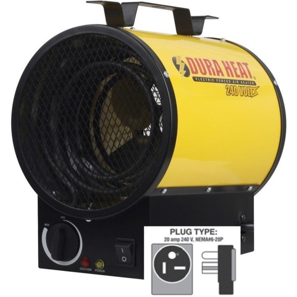 Dura Heat EUH5000 Electric Forced Air Workspace Heater, 5000W, 240V, 17000 BTU