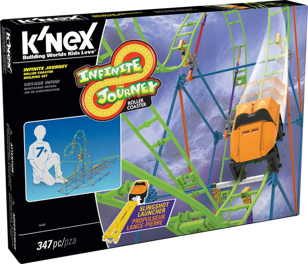 K'NEX® 15407 Infinite Journey Roller Coaster Building Set for Ages 7+, 347-Pieces
