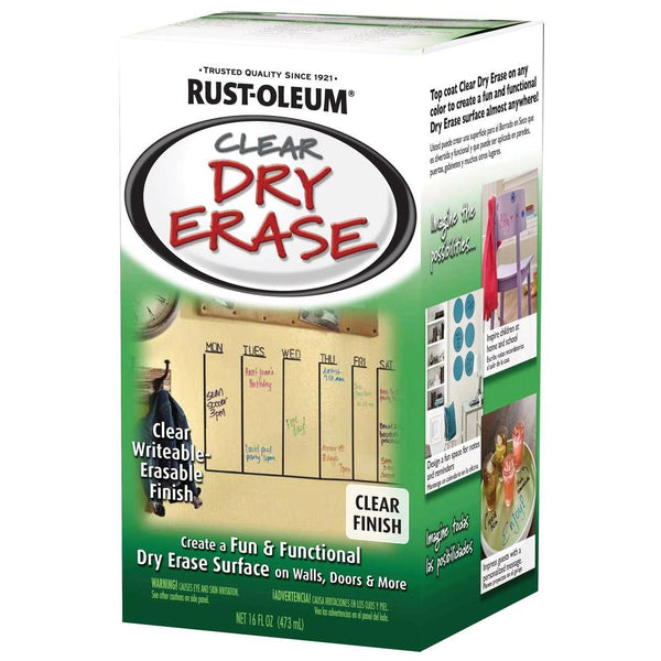 Rust-Oleum® 284637 Specialty® Clear Dry Erase Kit, 16 Oz