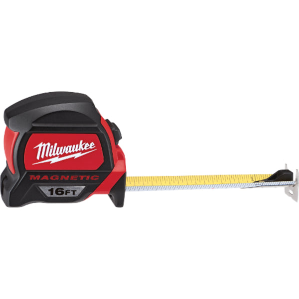 Milwaukee® 48-22-7116 Magnetic Tape Measure with Magnetic Hook, 16'