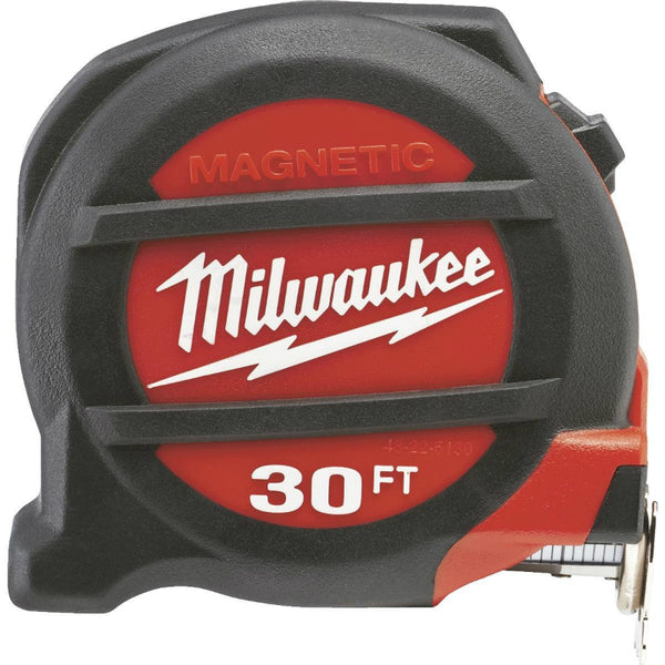 Milwaukee® 48-22-7130 Magnetic Tape Measure with Magnetic Hook, 30'
