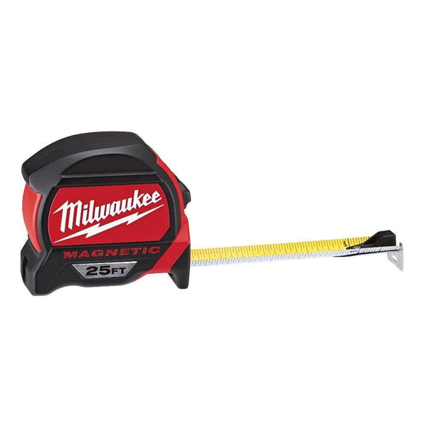 Milwaukee® 48-22-7125 Magnetic Tape Measure with Magnetic Hook, 25'