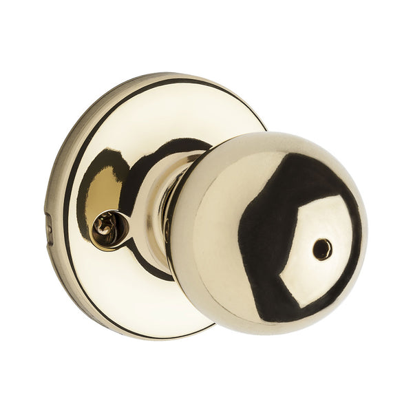 Kwikset® 93001-873 Security Polo Privacy/Bed/Bath Lockset, Polished Brass