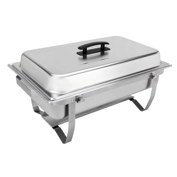 Sterno® 70153 Buffet Chafer with Foldable Frame, Stainless Steel