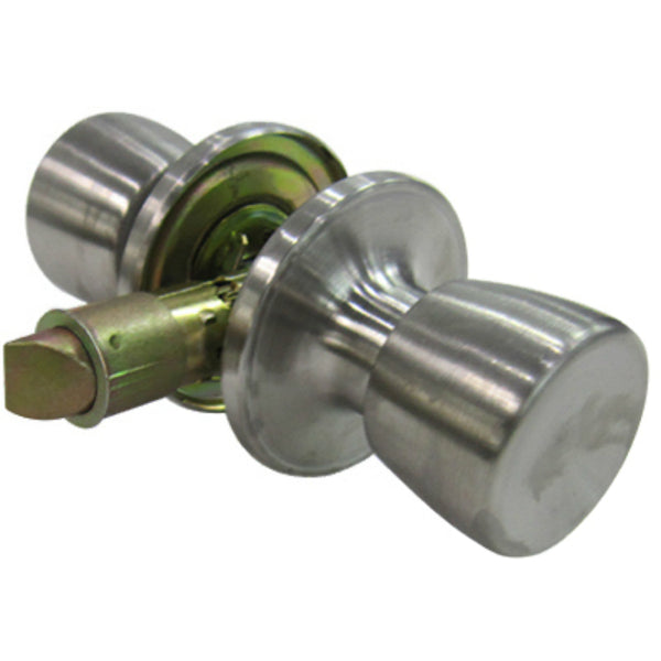 Tru-Guard TS630B-MH Tulip Style Knob Passage Home Lockset, Stainless Steel