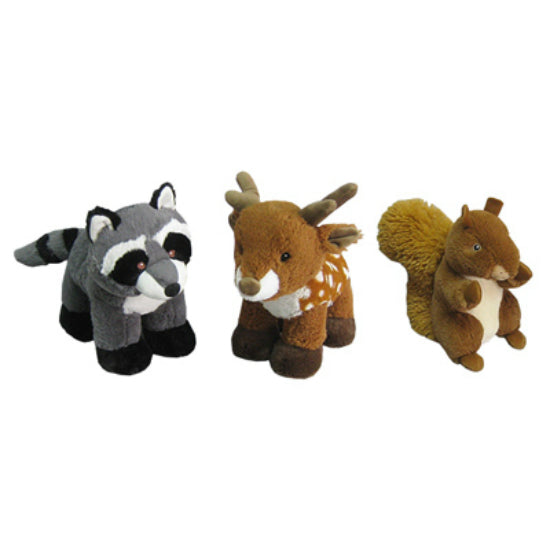 Hugfun® 227641ASST Plush Woodland Animals, Assorted, 10""