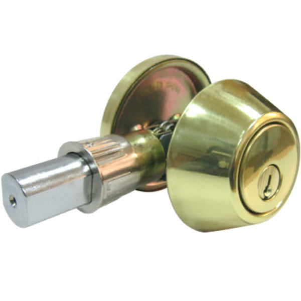 Tru-Guard DL71-MH-KA2 Mobile Home Single Cylinder Deadbolt, Polished Brass