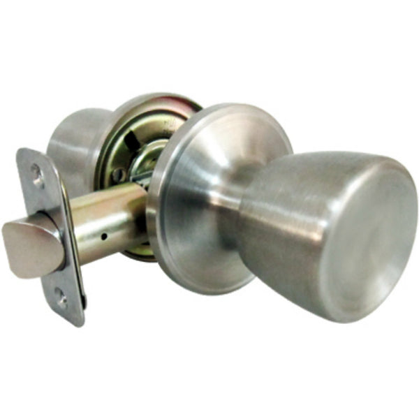 Tru-Guard TS630B Medium Tulip Style Knob Passage Lockset, Stainless Steel