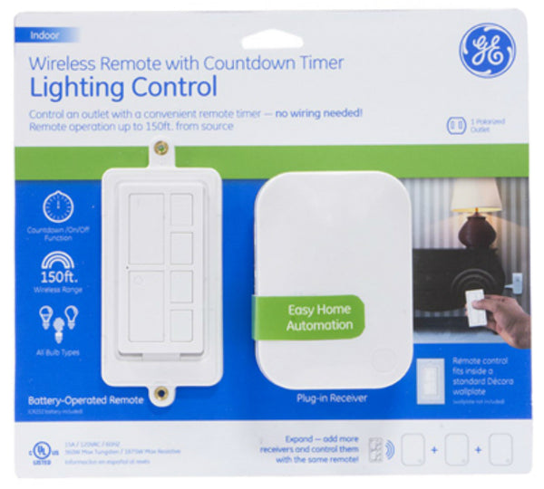 GE 36240 Wireless Remote with Count Down Timer Lighting Control